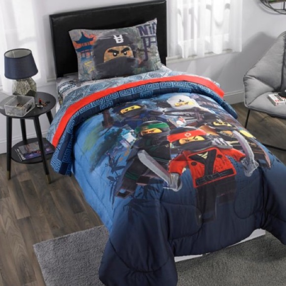 Ninjago Twin Boys Bedroom comforter & sheet set